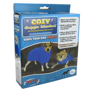 Cozy Doggie Blanket As Seen On TV in Blue (Medium)