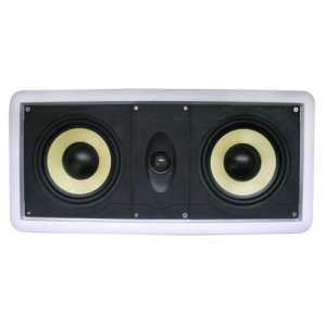 New Wave Audio CC-602KV 120 W RMS Speaker - 2-way - White - 40 Hz to 22 kHz - 8 Ohm - In-wall