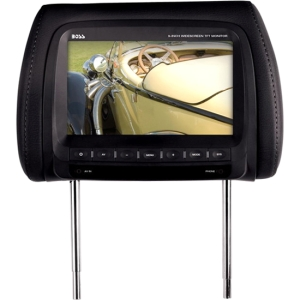 "Boss HIR90B 9"" Active Matrix TFT LCD Car Display - Black - 800 x 480 - IR Transmitter - Headrest-mountable"