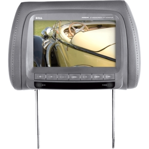 "Boss HIR90G 9"" Active Matrix TFT LCD Car Display - Gray - 800 x 480 - IR Transmitter - Headrest-mountable"