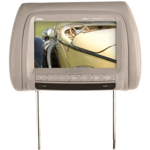"Boss HIR90T 9"" Active Matrix TFT LCD Car Display - Tan - 800 x 480 - IR Transmitter - Headrest-mountable"