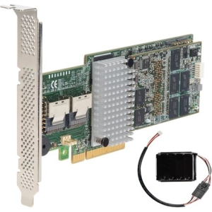 Intel RAID Controller RS25AB080 - Serial Attached SCSI (SAS), Serial ATA/600 - PCI Express 2.0 x8 - Plug-in Card - RAID Supported - 0, 1, 5, 6, 10, 50, 60 RAID Level - 1 GB