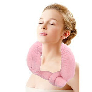 Soft Vibrating Neck Wrap Massager - Pink