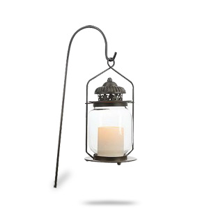 HomeReflections Indoor/Outdoor Flameless Candle Lantern with Timer (Red)  - H165617