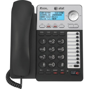 AT&T ML17929 Standard Phone - Black - 2 x Phone Line - Caller ID - Speakerphone - Backlight