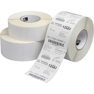 "Zebra Label Paper 2.25x1.25in Direct Thermal Zebra Z-Select 4000D - 2.25"" Width x 1.25"" Length - 12 / Carton - Rectangle - 2100/Roll - 1"" Core - Paper - Direct Thermal - White"