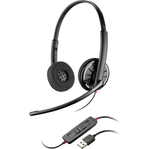 Plantronics Blackwire C320-M Headset - Stereo - USB - Wired - 20 Hz - 20 kHz - Over-the-head - Binaural - Semi-open - Noise Cancelling Microphone