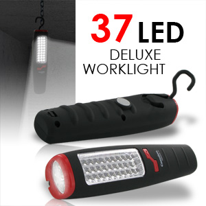 37 LED Deluxe Light - Shock & Water Proof with Built-in Magnetic Hook