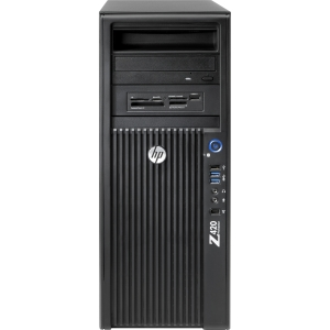 HP Z420 B2B96UT Convertible Mini-tower Workstation - 1 x Intel Xeon E5-1603 2.8GHz - 4 GB RAM - 500 GB HDD - DVD-Writer - Genuine Windows 7 Professional (English)