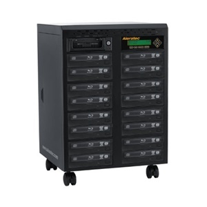 Aleratec 1:15 Standalone Blu-ray/DVD/CD Duplicator - Standalone - BD-ROM, Blu-ray Writer - 12x BD-R, 8x BD-R, 16x DVD+R, 16x DVD-R, 8x DVD+R, 8x DVD-R, 48x CD-R - 2x BD-RE, 8x DVD+RW, 8x DVD-RW, 24x CD-RW, 2x BD-RE