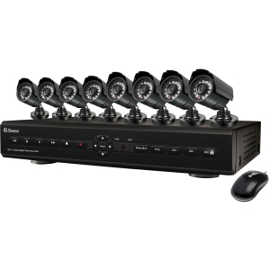 Swann Advanced Video Surveillance System - 8 x Digital Video Recorder, Camera - H.264 Formats - 500 GB Hard Drive