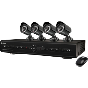 Swann Video Surveillance System - 4 x Digital Video Recorder, Camera - H.264 Formats - 500 GB Hard Drive