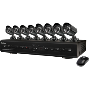 Swann Video Surveillance System - 8 x Digital Video Recorder, Camera - H.264 Formats - 500 GB Hard Drive