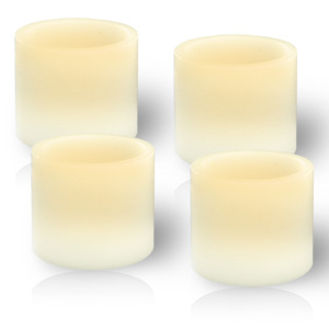 HomeReflections 4 Pack Flameless Votive Candles with Timers (Ivory) - H191155