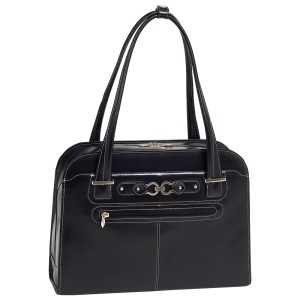 "McKleinUSA Oak Grove W Series 96635 Ladies' Briefcase - Briefcase - Shoulder Strap - 15.4"" Screen Support - Leather - Black"