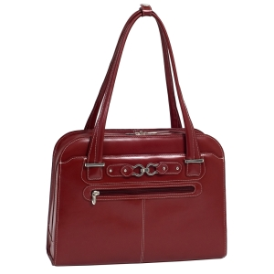 "McKleinUSA Oak Grove W Series 96636 Ladies' Briefcase - Briefcase - Shoulder Strap - 15.4"" Screen Support - Leather - Red"