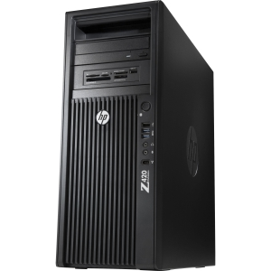 HP Z420 B2B94UT Convertible Mini-tower Workstation - 1 x Intel Xeon E5-1650 3.2GHz - 8 GB RAM - 500 GB HDD - DVD-Writer - Genuine Windows 7 Professional (English)