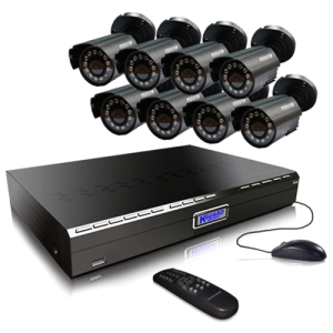Kguard CA24-C03 Video Surveillance System - 8 x Digital Video Recorder, Camera - MPEG-4, H.264 Formats - 500 GB Hard Drive