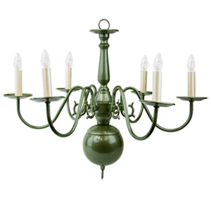 Liz Jordan Lighting Jade Mist Colony Mid Sized Chandelier from the Colony Collection-1365JM