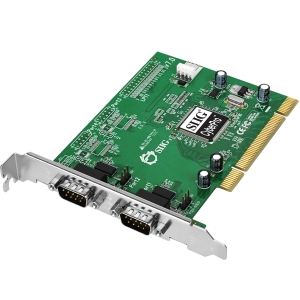 SIIG CyberSerial Dual PCI - 2 x 9-pin DB-9 Male RS-232 Serial PCI - 1 Pack