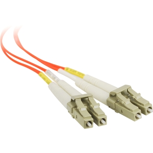 SIIG 1m Multimode 50/125 Duplex Fiber Patch Cable LC/LC - 2 x LC Male Network - 2 x LC Male Network - Orange