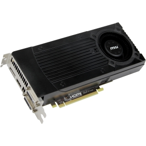 MSI N670GTX-PM2D2GD5/OC GeForce GTX 670 Graphic Card - 965 MHz Core - 2 GB GDDR5 SDRAM - PCI Express 3.0 x16 - 6008 MHz Memory Clock - 2560 x 1600 - SLI - Fan Cooler - DirectX 11.0, OpenGL 4.2 - HDMI - DisplayPort - DVI