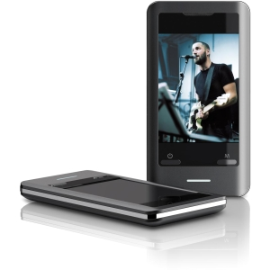 Coby MP827 4 GB Flash Portable Media Player - Video Player, Audio Player, Photo Viewer, FM Tuner - 2.8&quot; Color LCD - Touchscreen - miniSD Card