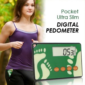 HealthSmart Ultra Slim Digital Pocket Pedometer