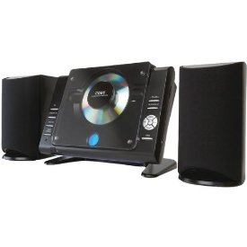 Coby CXCD380 Micro Hi-Fi System - 20 W RMS - Black - CD Player - AM, FM - 2 Speaker(s) - CD-DA - Remote Control