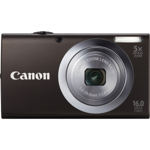 "Canon PowerShot A2400 IS 16 Megapixel Compact Camera - Black - 2.7"" LCD - 5x Optical Zoom - Optical (IS) - 4608 x 3456 Image - 1280 x 720 Video - PictBridge - HD Movie Mode"