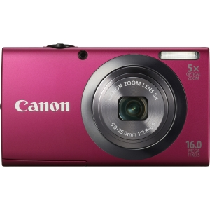 "Canon PowerShot A2300 16 Megapixel Compact Camera - Red - 2.7"" LCD - 5x Optical Zoom - Optical, Electronic (IS) - 4608 x 3456 Image - 1280 x 720 Video - PictBridge - HD Movie Mode"