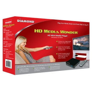 Diamond HD Media Wonder Mini Media Player - Audio Player, Photo Viewer, Video Player - Secure Digital (SD) Card, MultiMediaCard (MMC)