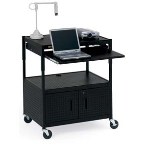 Bretford ECILS3-BK Mobile Projector Cart - Steel - Black