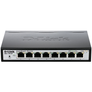 D-Link DGS-1100-08 Ethernet Switch - 8 Ports - Manageable - 8 x RJ-45 - 10/100/1000Base-T - Desktop