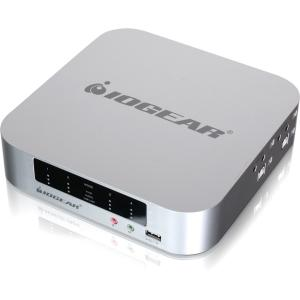 Iogear 4-port DualView Mini DisplayPort KVMP Switch with Peripheral Sharing - 4 Computer(s) - 2 x USB