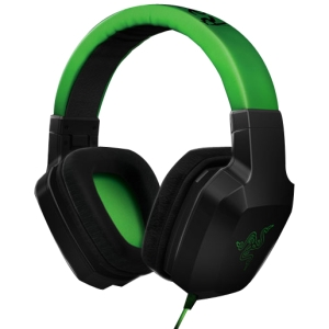 Razer Electra Headset - Stereo - Mini-phone - Wired - 32 Ohm - 25 Hz - 16 kHz - Gold Plated - Over-the-head - Binaural - Ear-cup - 4.27 ft Cable