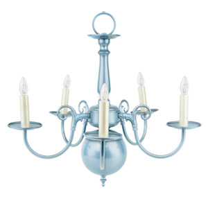 Liz Jordan Lighting Sapphire Mist Colony Mid Sized Chandelier from the Colony Collection-1211SM