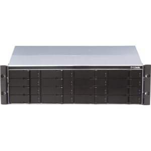 D-Link xStack SAN Array - RAID Supported - 16 x Total Bays - iSCSI - 3U Rack-mountable
