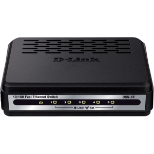 D-Link DSS-5E 5 Port 10/100 Desktop Switch - 5 Ports - 5 x RJ-45 - 10/100Base-TX - Desktop