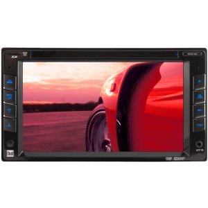 "Dual XDVD1262 Car DVD Player - 6.2"" Touchscreen LED - 72 W RMS - Double DIN - DVD Video - FM, AM - microSD Card - Auxiliary Input800 x 480 - iPod/iPhone Compatible - In-dash"