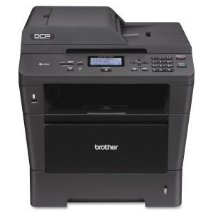Brother DCP-8110DN Laser Multifunction Printer - Monochrome - Plain Paper Print - Printer, Copier, Scanner - 38 ppm Mono Print - 38 cpm Mono Copy - Automatic Duplex Print - 300 sheets Input - Ethernet - USB