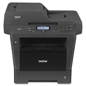 Brother DCP-8150DN Laser Multifunction Printer - Monochrome - Plain Paper Print - Desktop - Printer, Scanner, Copier - 40 ppm Mono Print - 40 cpm Mono Copy - Automatic Duplex Print - 300 sheets Input