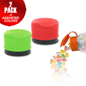 Copco Small Bag Cap Assorted Color 2 Pack - Cover &amp; Seal Your Bags For Easy &amp; Fresh Storage