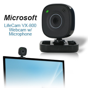 Microsoft LifeCam VX-800 VGA USB  2.0 Webcam with Microphone -  Black - 640 x 480 Video