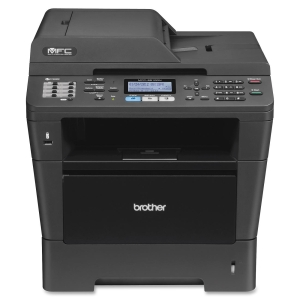 Brother MFC-8510DN Laser Multifunction Printer - Monochrome - Plain Paper Print - Printer, Scanner, Copier - 38 ppm Mono Print - 38 cpm Mono Copy - Automatic Duplex Print - 300 sheets Input - Ethernet - USB