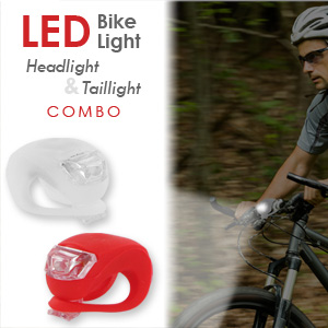 Flex LED Bike Light Headlight & Taillight Combo