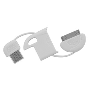 MiniSync - USB Charge Keychain Cable for Apple iPhone, iPad & iPod (White)