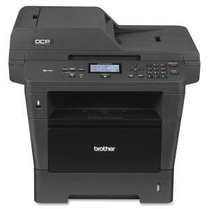 Brother DCP-8155DN Laser Multifunction Printer - Monochrome - Plain Paper Print - Desktop - Printer, Scanner, Copier - 40 ppm Mono Print - 40 cpm Mono Copy - Automatic Duplex Print - 300 sheets Input