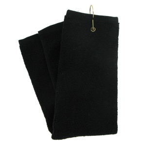 Tri-Fold Golf Towel (Black)