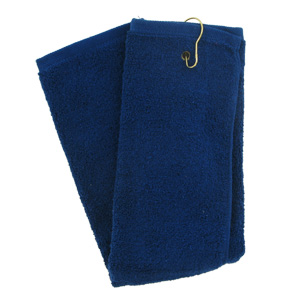 Tri-Fold Golf Towel (Blue)